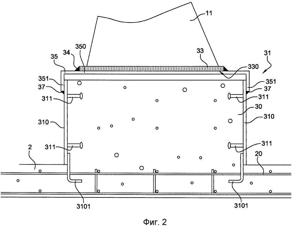 Система удержания для элемента оборудования на бетонной плите