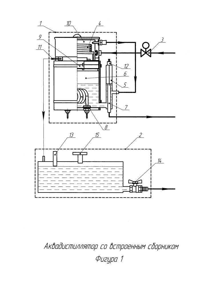 Аквадистиллятор со встроенным сборником