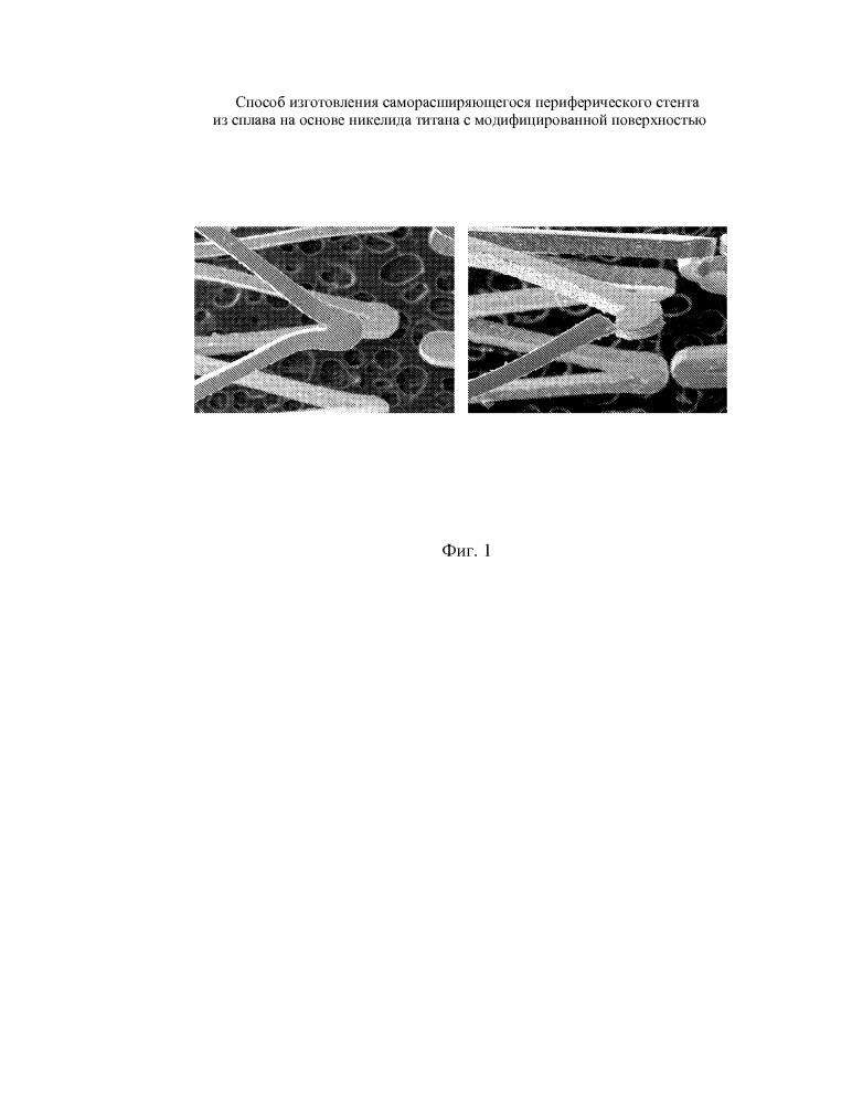 Способ изготовления саморасширяющегося периферического стента из сплава на основе никелида титана с модифицированной поверхностью