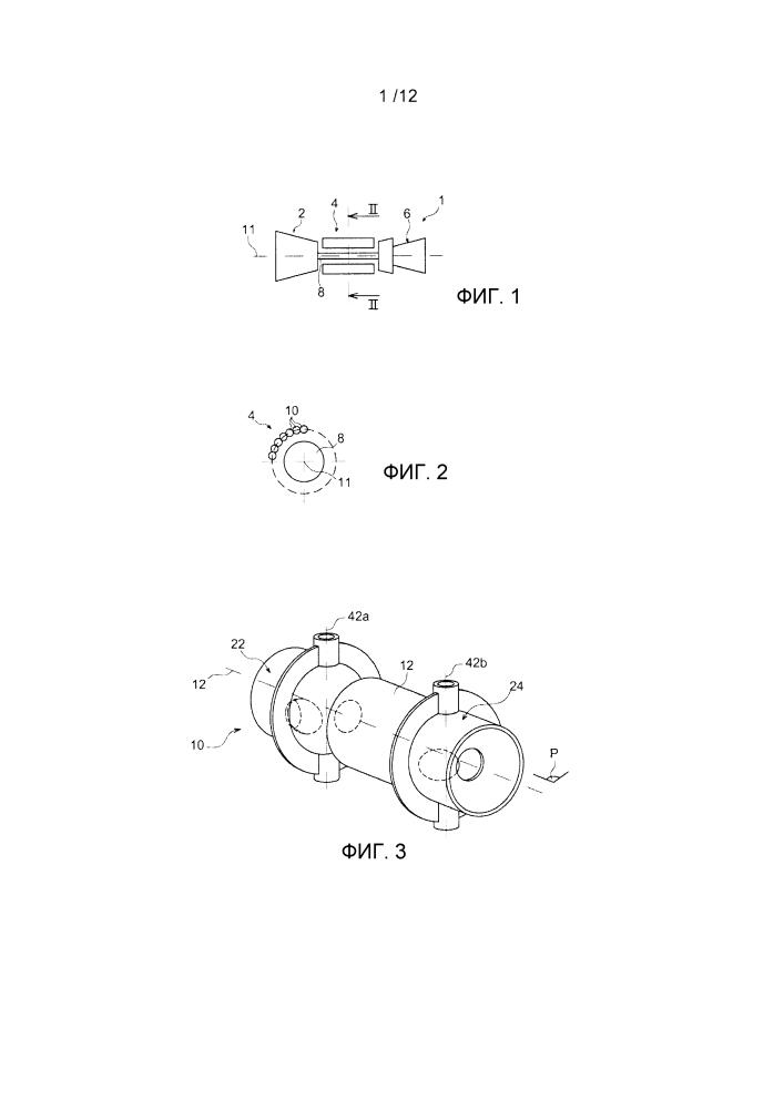 Камера сгорания постоянного объема для авиационного турбинного двигателя, содержащая впускной/выпускной клапан, имеющий сферическую заглушку