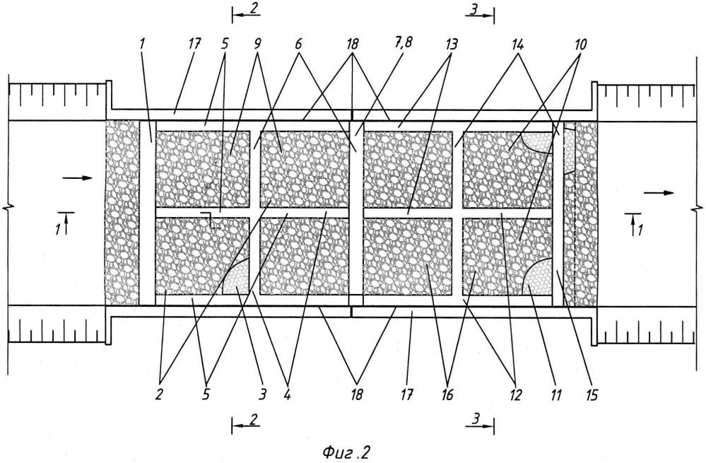 Способ возведения двухступенчатого перепада комбинированной конструкции