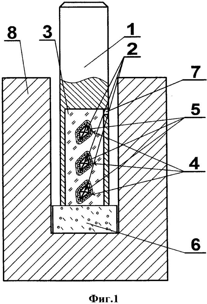 Способ металлизации алмаза при спекании с пропиткой медью алмазосодержащей твердосплавной матрицы