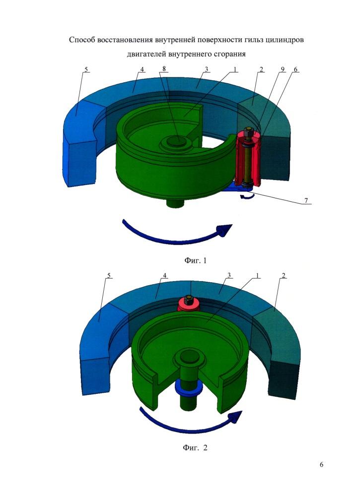 Способ восстановления внутренней поверхности гильз цилиндров двигателей внутреннего сгорания