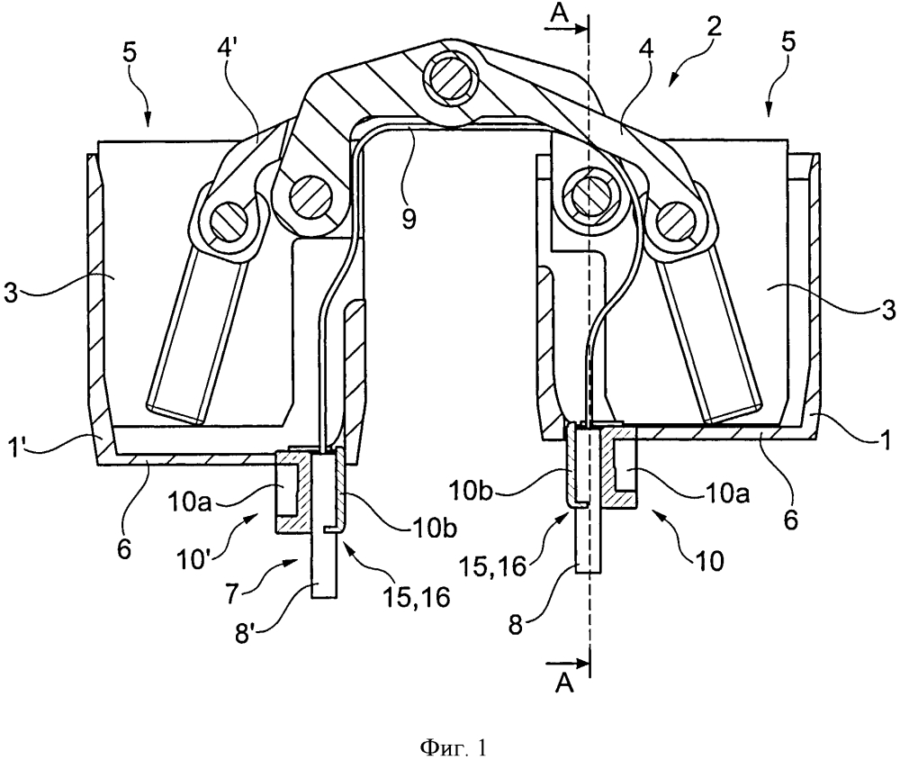 Скрытая дверная петля с электрическим соединением