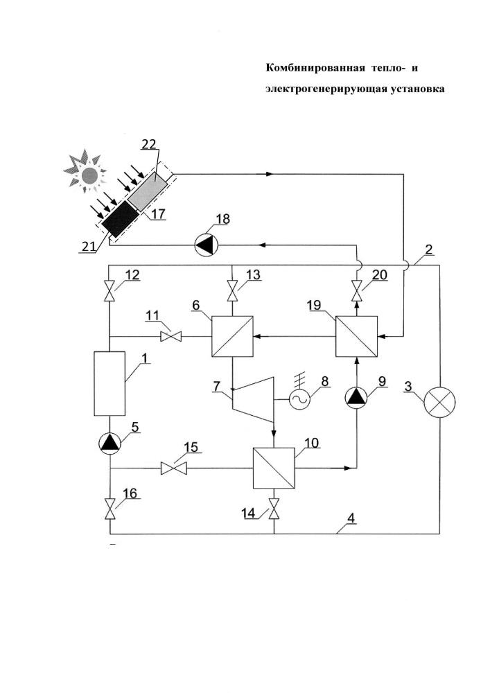 Комбинированная тепло- и электрогенерирующая установка