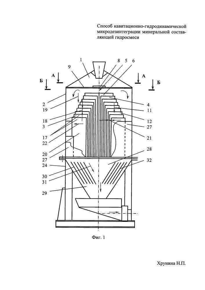 Способ кавитационно-гидродинамической микродезинтеграции минеральной составляющей гидросмеси