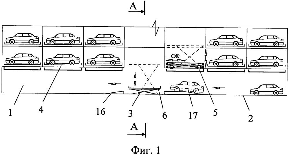 Способ парковки автомобиля в многоярусном автоматизированном паркинге и система парковки для осуществления этого способа (варианты)