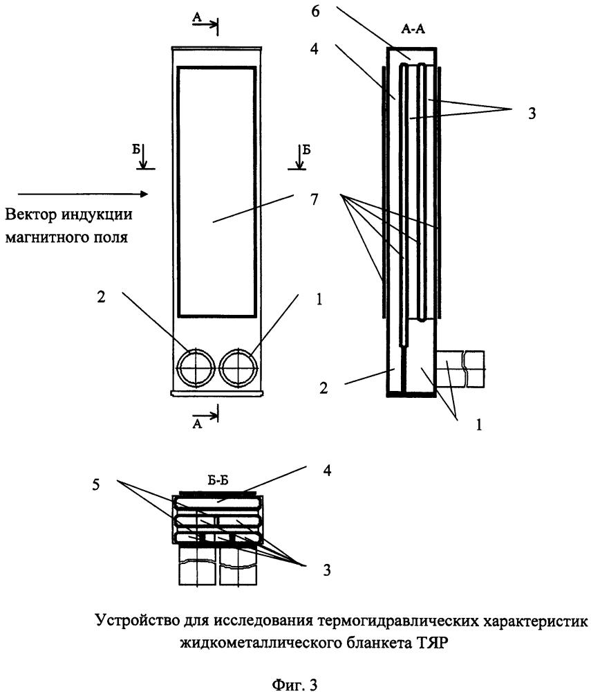 Устройство для исследования термогидравлических характеристик жидкометаллического бланкета тяр