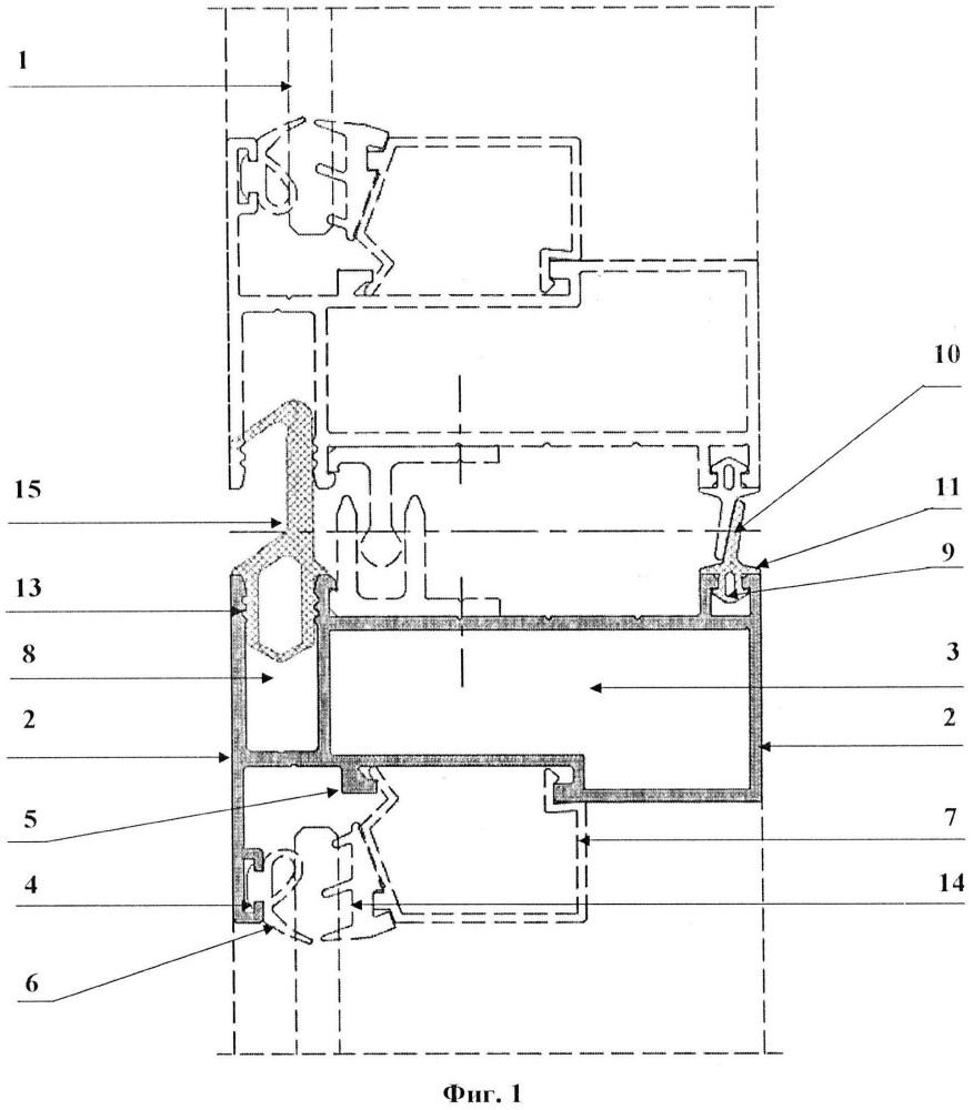 Модуль фасадного остекления