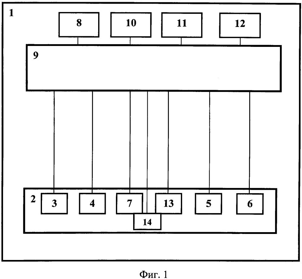 Устройство мониторинга технического состояния двигателя роботизированного комплекса