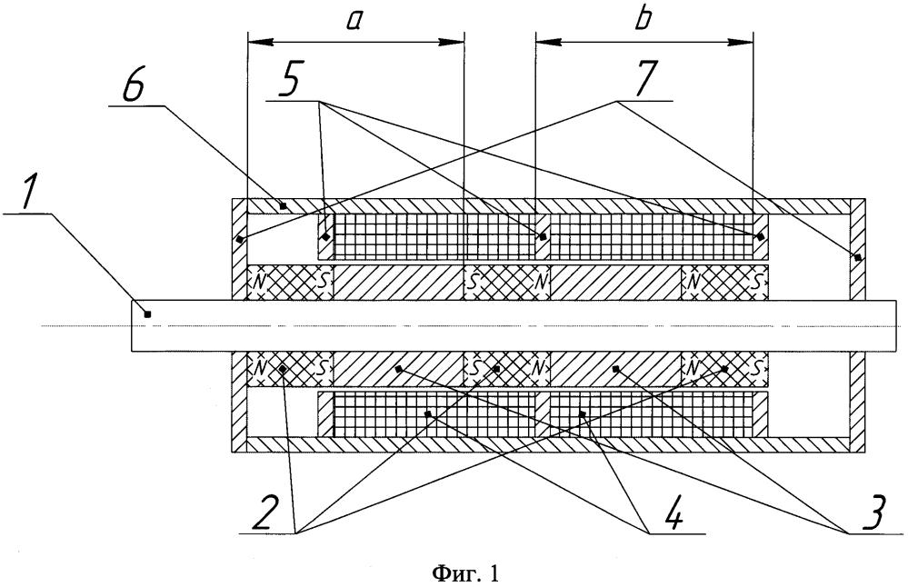 Двухсторонний поляризованный электромагнит с пассивным удержанием штока