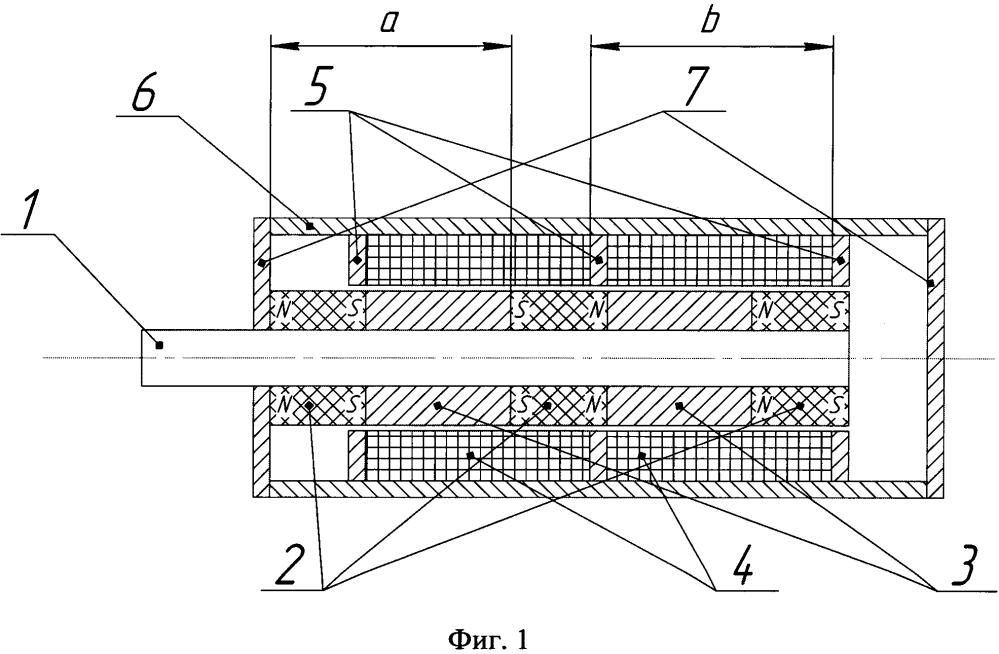Поляризованный электромагнит с пассивным удержанием штока