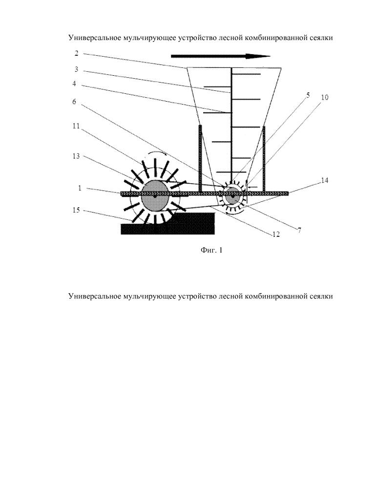 Универсальное мульчирующее устройство лесной комбинированной сеялки
