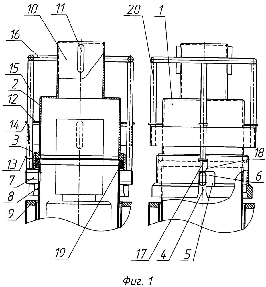 Крышка чехла хранения отработавших тепловыделяющих сборок реактора ввэр-1000 и штанга для ее снятия и постановки