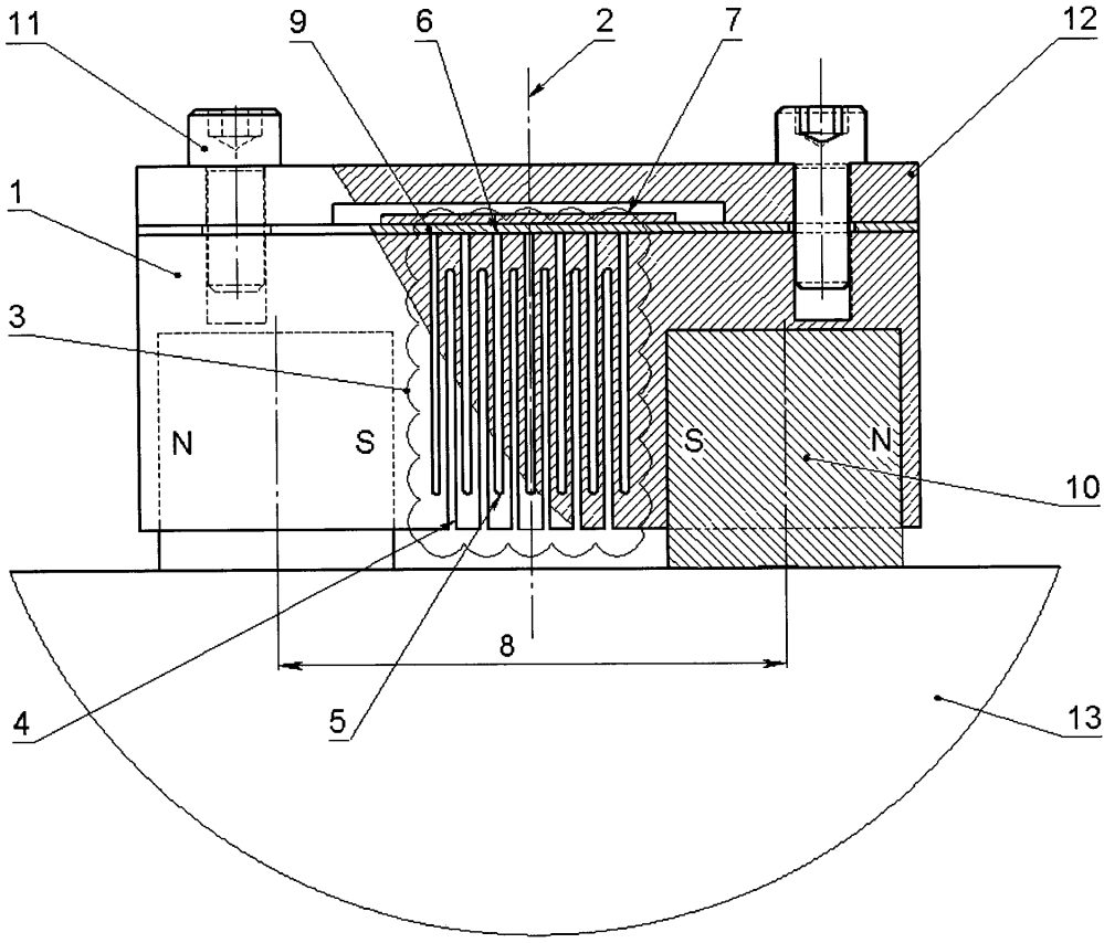 Тензометр накладной динамических деформаций