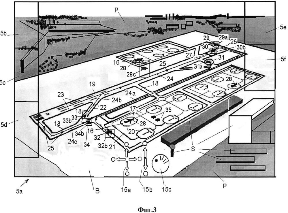 Способ и устройство для управления движением на аэродроме