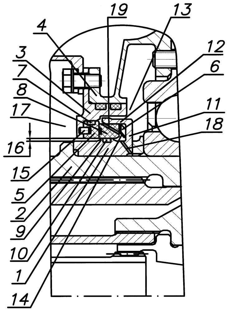 Торцевое контактное уплотнение ротора турбомашины
