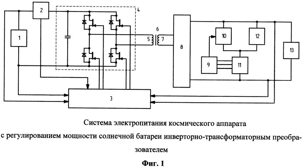 Высоковольтная система электропитания космического аппарата