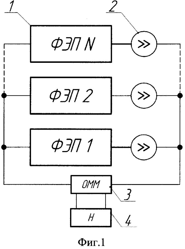 Способ отбора электрической энергии от батарей фотоэлектрических преобразователей