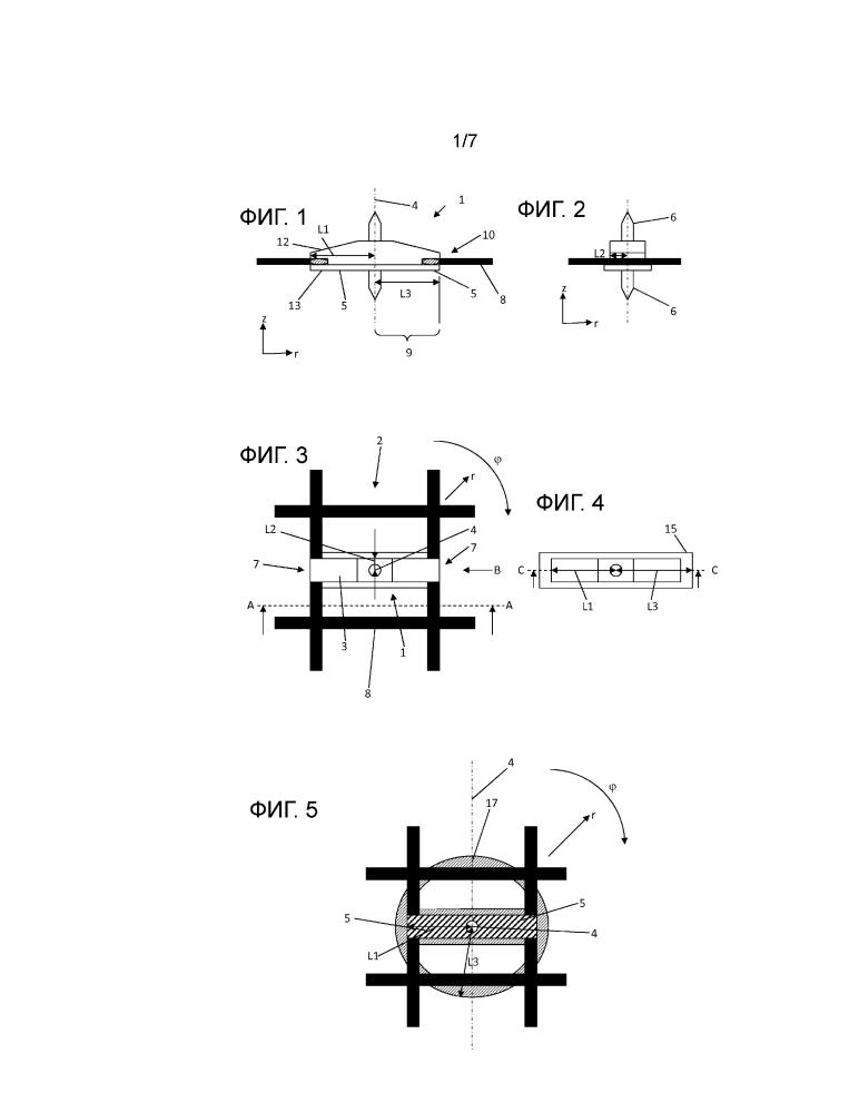 Распорка для слоя арматуры, армирующее устройство для бетонного элемента, а также способ изготовления армирующего устройства