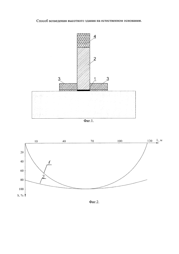 Способ возведения высотного здания на естественном основании
