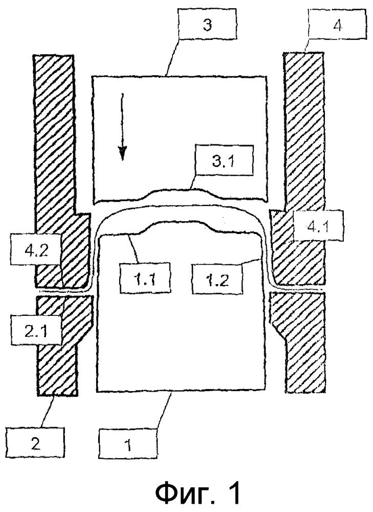 Устройство, установка и способ формования листовой металлической заготовки, и полученная таким образом деталь