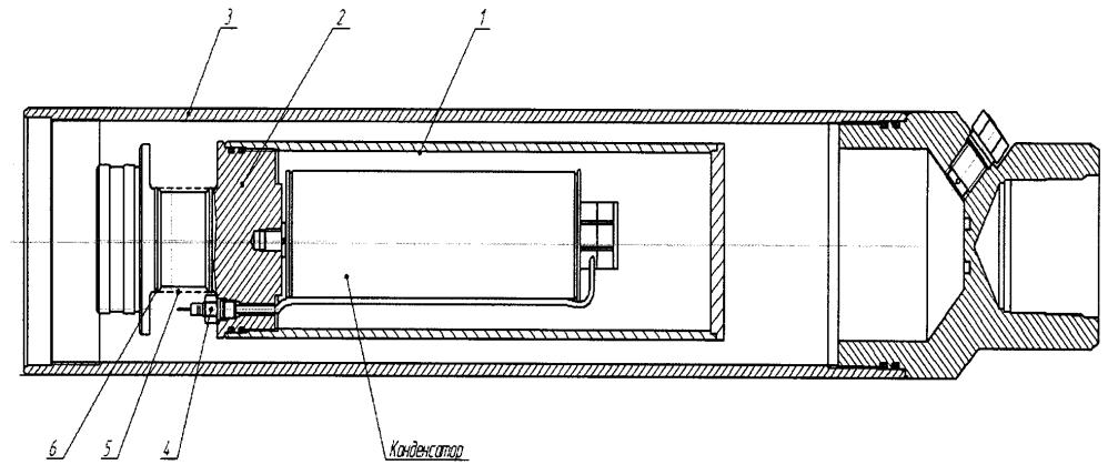 Устройство для защиты косинусного конденсатора погружного электродвигателя с повышенным коэффициентом мощности от внешнего внутрипластового давления