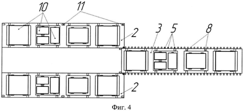 Накопительная платформа для раздельного сбора и транспортировки отходов