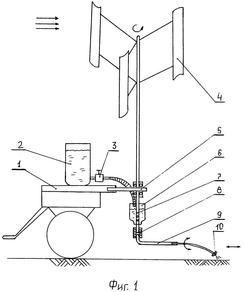 Мобильное ветроустройство для обеззараживания обочин разбрызгиванием