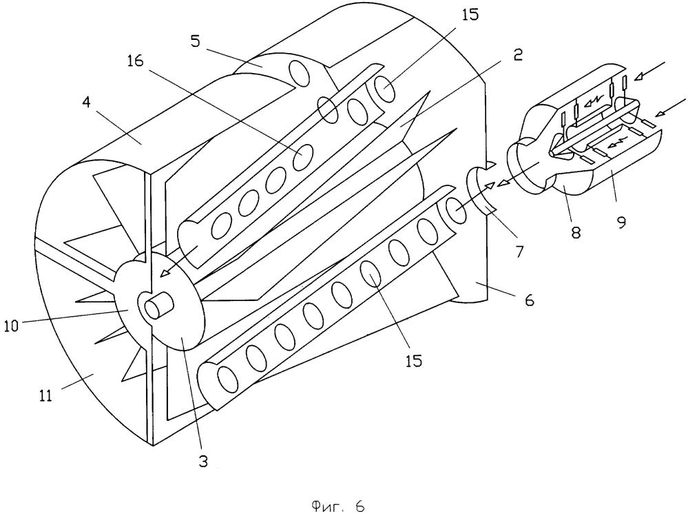 Межлопаточный воздушно-замещающий способ повышения силы тяги реактивного двигателя и устройство его осуществления