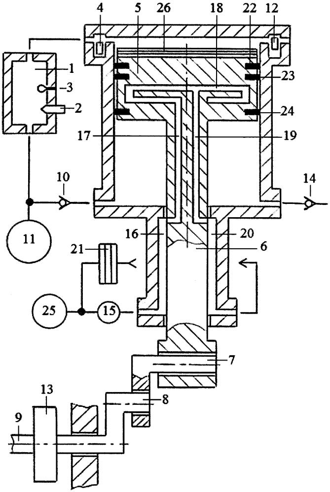 Способ охлаждения поршня двухтактного двигателя с внешней камерой сгорания