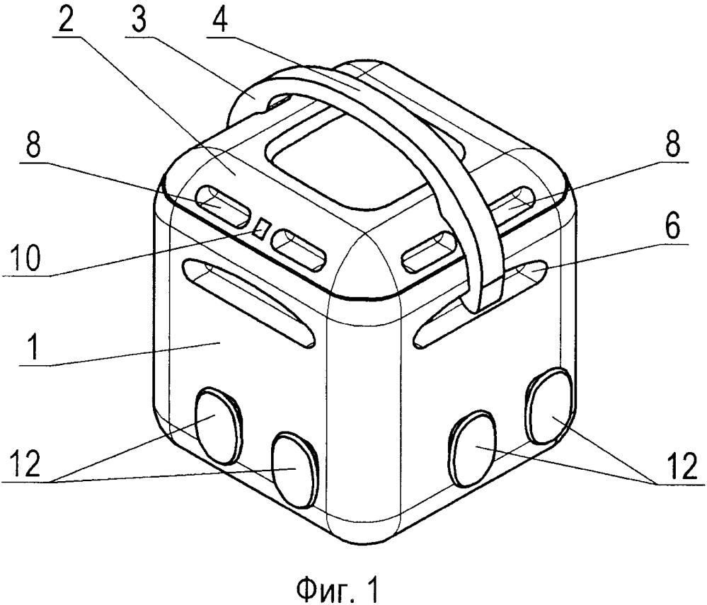 Контейнер со съемной рукояткой для транспортировки и хранения предметов