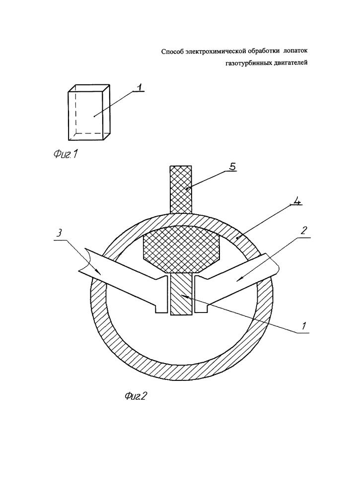 Способ электрохимической обработки лопаток газотурбинных двигателей