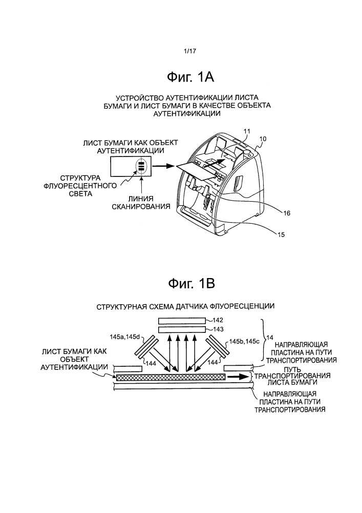 Устройство для аутентификации листа бумаги