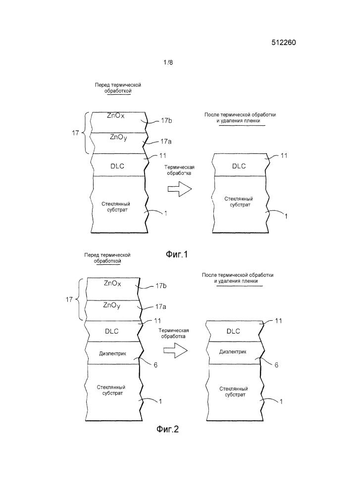 Способ изготовления термически обработанного и подвергнутого травлению/фрезерованию ионным пучком покрытого изделия с использованием защитной пленки из алмазоподобного углерода (dlc)