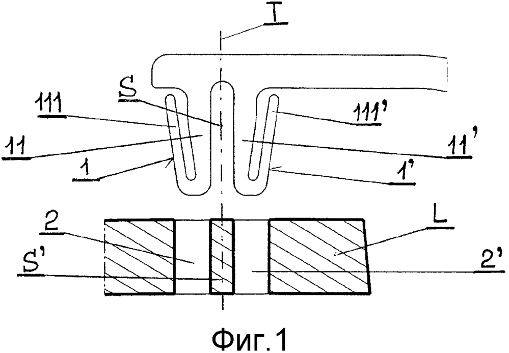 Крепежное устройство для оправы очков для пары линз