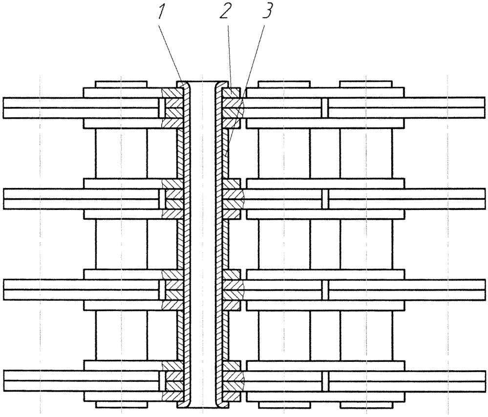 Многорядная приводная пластинчатая цепь
