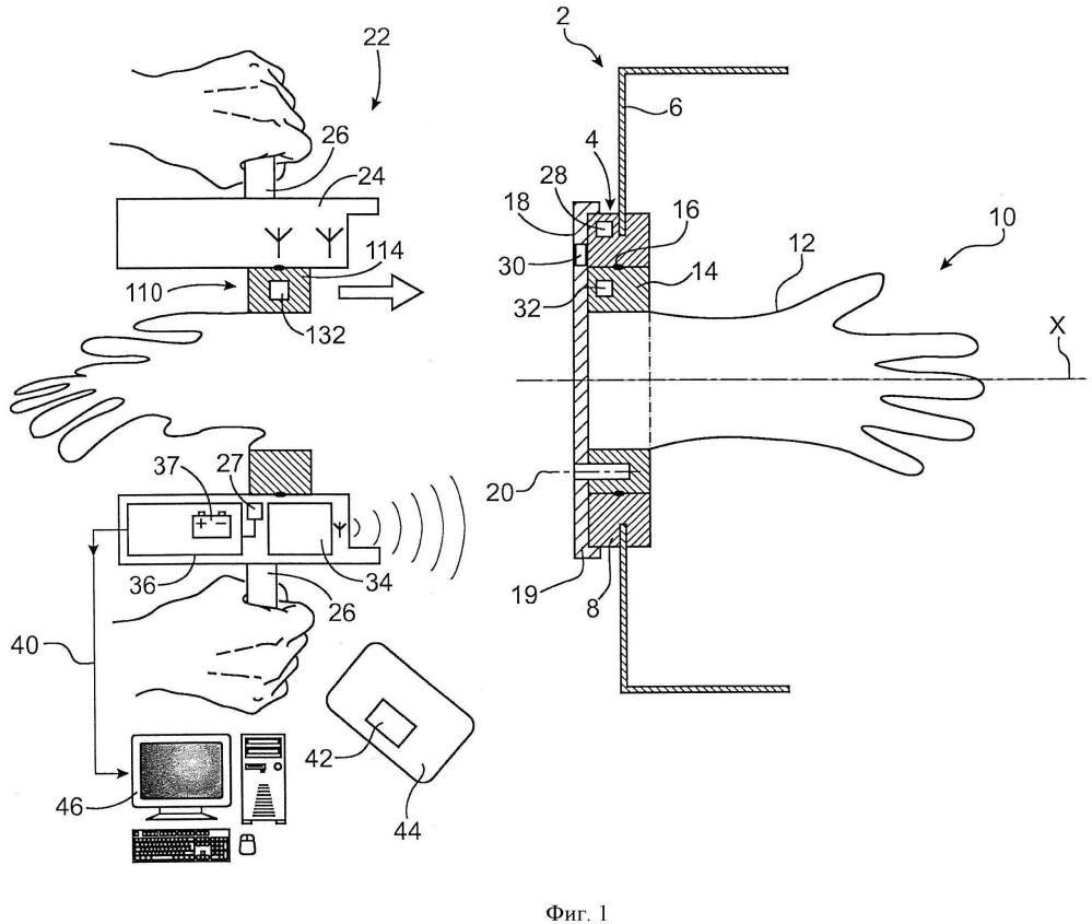 Установка, содержащая перчаточный бокс и устройство для замены перчаток, включающее в себя контроль за заменой перчаток