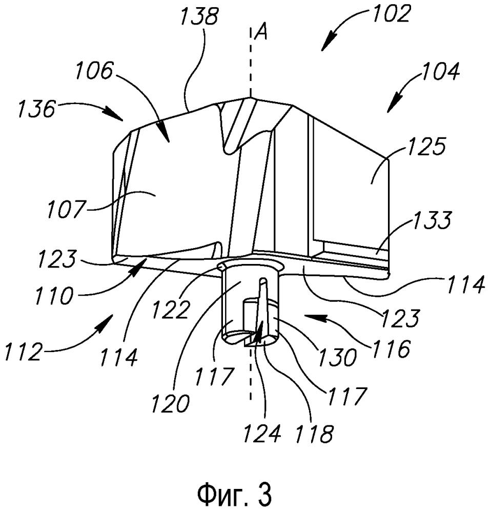 Режущий инструмент и режущая пластина с задней упругой щелью