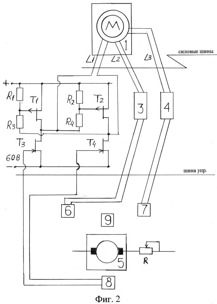 Устройство регулирования частоты вращения асинхронного электродвигателя