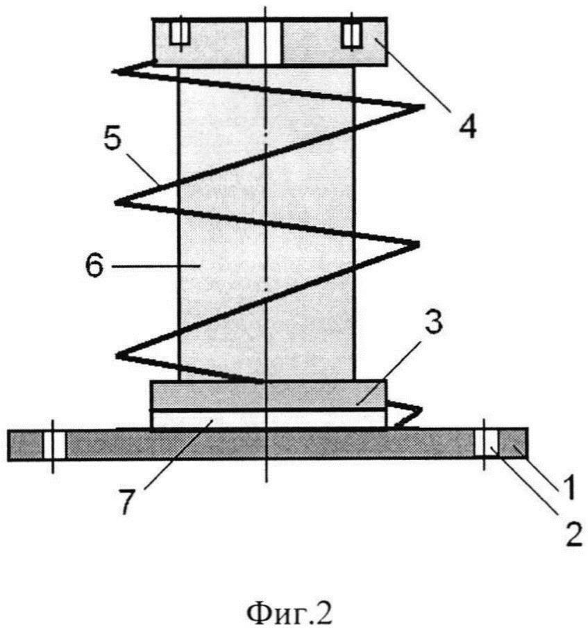 Виброизолятор пружинный с сетчатым демпфером