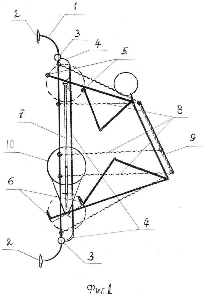 Биокинетический тренажёр ахметова для укрепления опорно-двигательной системы человека в условиях невесомости