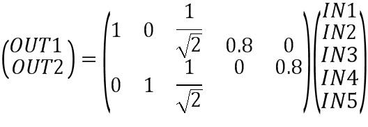 Способ и процессор сигналов для преобразования множества входных каналов из конфигурации входных каналов в выходные каналы из конфигурации выходных каналов