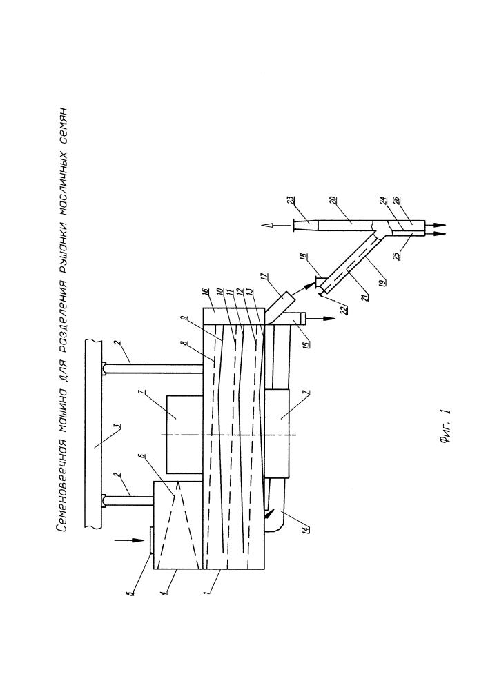 Семеновеечная машина для разделения рушанки масличных семян