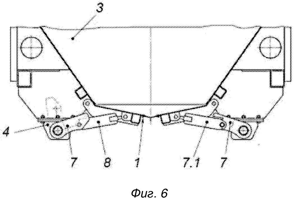 Устройство для открывания и закрывания крышек разгрузочных люков вагона-хоппера