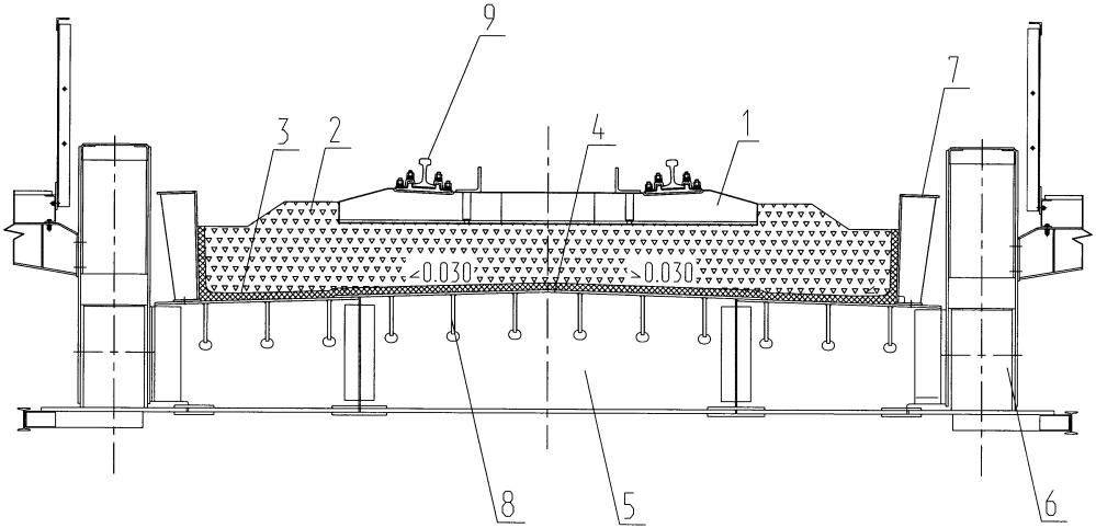 Устройство верхнего строения пути на мостах с ездой на балласте и способ его сооружения
