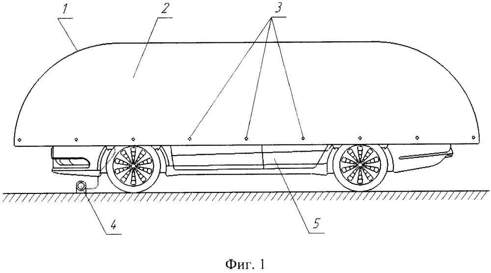 Быстровозводимый пневмокаркасный чехол для защиты кузова легкового автомобиля от града