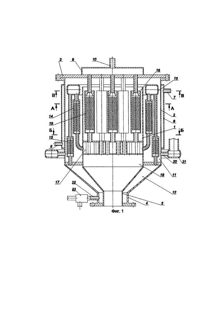 Устройство для паровой каталитической конверсии природного газа в синтез-газ