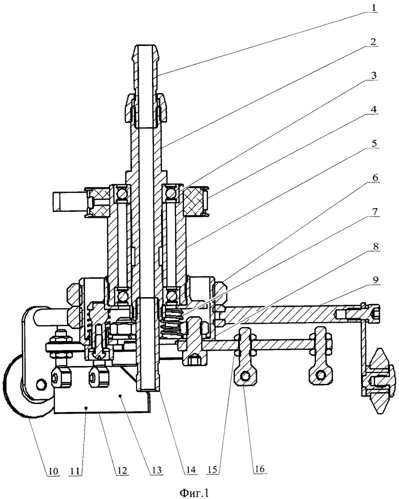 Податчик и разравниватель порций блинного теста на жарочной поверхности для блинного автомата