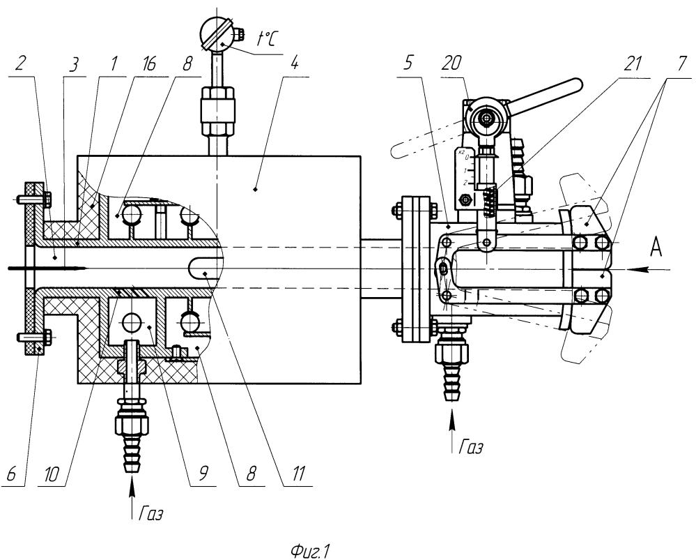 Герметизирующий затвор к печи для непрерывной термической обработки волокнистого углеродного материала